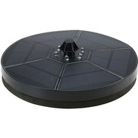 Solar fountain with LED lights, 3.5W/6V floating outdoor pool water floating fountain 2000mAh battery