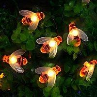Solar Garden Lights, Honey Bee Fairy String Lights?12M/39Ft 8 Mode Waterproof Outdoor/Indoor Garden Lighting for Flower Fence, Lawn, Patio, Festoon,