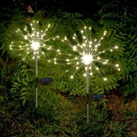 Solar Garden Lights Solar Firework Lights Solar Powered String Light with 2 Lighting Modes Twinkling and Steady-ON for Garden, Patio, Yard,