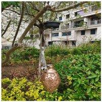 Thsinde - Solar Lantern, Outdoor Solar Garden Decorative IP44 Waterproof Solar Lamp, Garden Lighting Hanging Lamp Outdoor Lantern for Patio Party