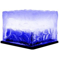Solar Lawn Lamp Outdoor LED Ice Cube Lamp Crystal Brick Glass Lawn Lamp Garden Light Waterproof Pathway Decoration,model:Blue S
