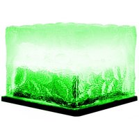 Solar Lawn Lamp Outdoor LED Ice Cube Lamp Crystal Brick Glass Lawn Lamp Garden Light Waterproof Pathway Decoration,model:Green S