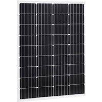 Zqyrlar - Solar Panel 100 W Monocrystalline Aluminium and Safety Glass