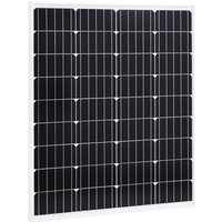 Solar Panel Monocrystalline Aluminium and Safety Glass 80 W - Vidaxl