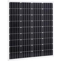 Solar Panel 80 W Monocrystalline Aluminium and Safety Glass