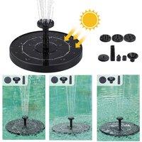 Solar Panel Power Floating Water Pump Anti-clogging Water Flow Outdoor Garden Fountain Scenery,model:Black
