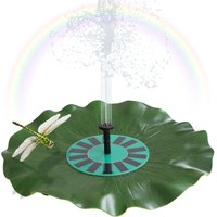 Asupermall - Solar-power Lotus Leaf Fountain Floating Brushless Decoration Pump Kit with Monocrystalline Solar Panel