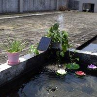 Solar Power Panel Landscape Pool Garden Fountains Pluggable Solar Power Decorative Fountain 9V 2.5W Water Pump