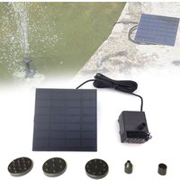 Solar Power Water Pump Solar Fountain Pump with Separate Solar Panel for Outdoor Small Pond Garden Fish Tank,model:Black