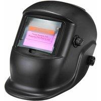 Solar Powered Auto Darkening Hood Welding Helmet With Wide Range 4 / 9-13 Adjustable Shade For MIG ARC Plasma Grinding Welder