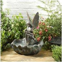 Solar Fairy Leaf Garden Water Feature Fountain Bird Bath 1170341 - Smart Garden