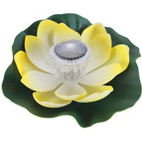 Asupermall - Solar Powered LEDs Lotus Light RGB Color Changing Water Floatiing Flower Light IP65 Water-resistant Night Lamp for Swimming Pool Pond