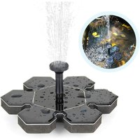 Solar Springbrunnen, Solar Teichpumpe Outdoor Wasserpumpe Solarpumpe mit 1.5W Monokristalline Solar Panel Brunnen, Schwimmender Dekoration für