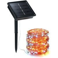 Solar String Lights 72ft 100 LED Rope Light 8 Modes Lights
