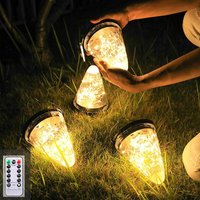 Solar Umbrella Lanterns - Hanging Garden String Lights, with Remote Control Timer 8-Modes-Shift Waterproof Garden Landscape Lights, for Patio Yard