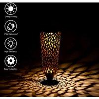 Solar Water Drop Hanging Lamp IP44 Patio Corridor Pathway Decoration Light, Brown , A - ASUPERMALL