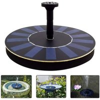 Langray - Solar Water Fountain Pump Floating Solar Panel with 4 Spray Heads for Different Water Flows, Perfect for Bird Bath, Small Pond and Fish