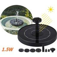 Solar Water Pump Fountain Garden Landscape Small Fountain, 1.5W - ASUPERMALL