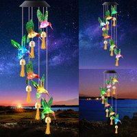 Solar Wind Chime for Outside,Color Changing Solar Lights, LED Decorative Mobile, Waterproof Outdoor Solar Lights for Home/Yard/Patio/Garden/Mom Gift