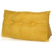 Triangular Wedge Lumbar Pillow Support Backrest Soft Bolster Home 100 * 50 * 22cm Yellow