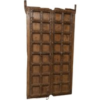 Solid wood and iron front door for interior or exterior use, old and medieval