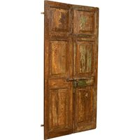 Biscottini - Solid wood and iron front door for interior or exterior use, old and medieval