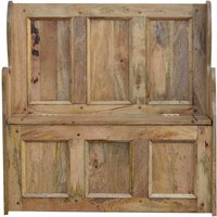 Solid Wood Large Monks Storage Bench - ARTISAN FURNITURE