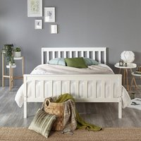 Atlantic Bed Frame in White, size Double