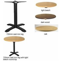 Spador Round Dining Table With Cast Iron Leg - Wenge Brown 80 cm 72 cm - NETFURNITURE
