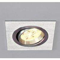 LED Spotlight Recessed Tjark (modern) in Silver made of