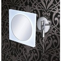 Neshome - Square Led Magnifying Mirror Wall Mounted With Multi Positional Arm