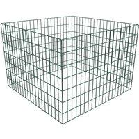 Square Mesh Garden Composter 100 x 100 x 70 cm - Green