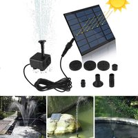 Square solar fountain, Black