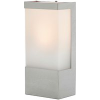 Square stainless steel outdoor wall light Kirana - LINDBY