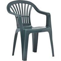 Stackable Garden Chairs 45 pcs Plastic Green - Green - Vidaxl