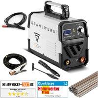 STAHLWERK ARC 200 ST IGBT - Welding machine MMA ARC Stick inverter welder with real 200 Ampere, very compact, white, 7-year manufacturer warranty