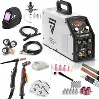 STAHLWERK CT550 ST- full equipment set - combined TIG/MMA welder with plasma cutter up to 12 mm cutting power, 200 Amp TIG/MMA + 50 Amp CUT, 7-year