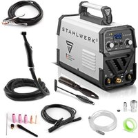 DC TIG 200 ST IGBT - Combined TIG + MMA/ARC inverter welder with 200 Ampere,7 years warranty, Welding of steel, stainless steel and more - Stahlwerk