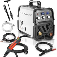 STAHLWERK MIG 135 ST IGBT - MIG MAG inert gas inverter welder with 135 Ampere, suitable for Flux Cored Wire, with MMA ARC Stick, white, 7 years