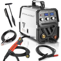 MIG 200 ST IGBT - MIG MAG inert gas inverter welder with 200 Ampere, suitable for Flux Cored Wire, with MMA ARC Stick, white, 7 years warranty