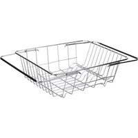 Stainless Steel Dish Drying Rack Retractable Dish Drainer Cutlery Basket Sink Drainer
