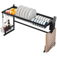 Maerex - Stainless Steel Drainer Dish Drying Rack Kitchen Storage 65 cm