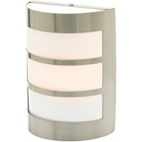 Stainless steel outdoor wall light Kristian - LINDBY
