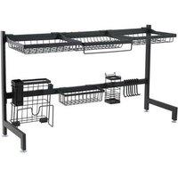 Stainless Steel Single Layer, Inner Length 92cm Kitchen Bowl Rack Shelf