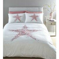 Star Bright Pink King Size Duvet Cover Set Quilt Cover Bedding - BEDMAKER
