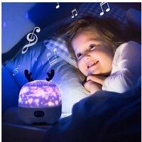 Star Lighting Projector Bluetooth Speaker White Nightby