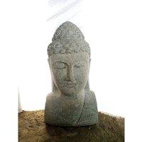 Wanda Collection - statue de jardin buste de Bouddha deco zen 70 cm