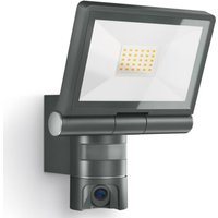 Steinel Outdoor Sensor Spotlight XLED CAM 1 Black - Black
