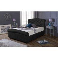 Furniturebox Uk - Stockholm Black Victoria Double Bed Frame