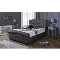 Furniturebox Uk - Stockholm Charcoal Victoria Double Bed Frame